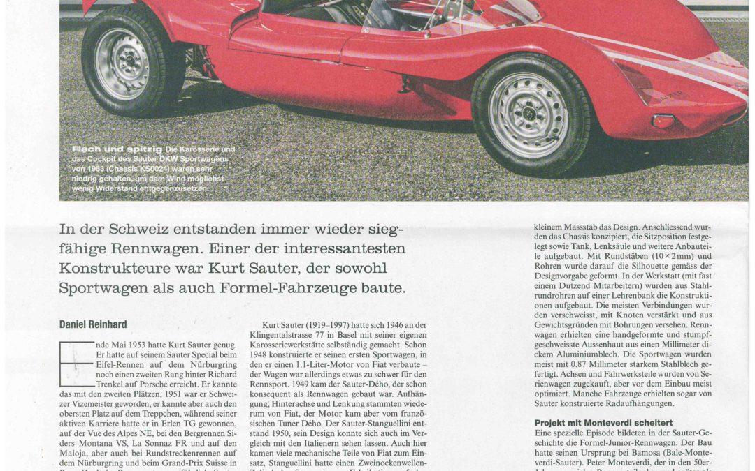 Automobil Revue Nr. 4 vom 24.01.2020: Kurt Sauter der Renn- und Sportwagenbauer aus Basel.
